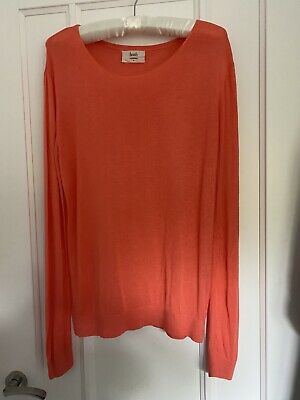 Hush Coral Slouchy Fine Knit Jumper UK M 12/14 • 20£