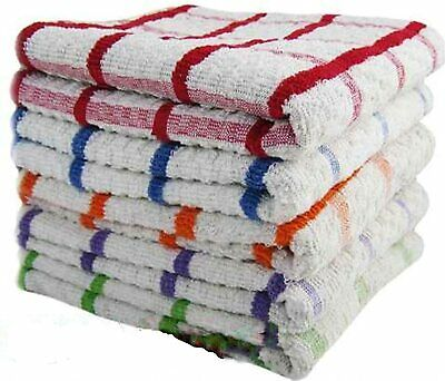 100% Cotton Jumbo Terry Tea Towels White Multicolour Large Super Absorbent Gift • 6.99£
