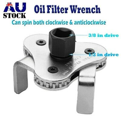 AU11.69 • Buy 2PCS 2Way 3 Jaw Auto-Adjustable Oil Filter Wrench Remover 3/8  Square 1/2  AU