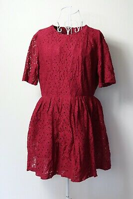 AU24.48 • Buy Size 18UK. Ladies  ASOS  Red Broderie Anglaise Dress. Brand New. Bargain Price.