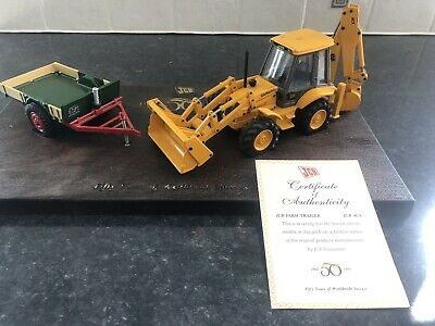 JCB Limited Edition 50 Years Anniversary Commemorative Model Pack 1945-1995 • 90£