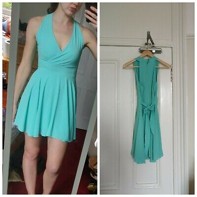 Wal G Turquoise Green Halter Neck Dress Small 10 • 9.99£