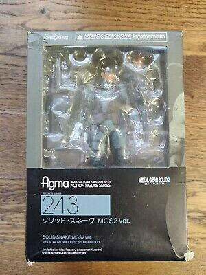 Max Factory Figma No.243 Metal Gear Solid Snake Action Figure Boxed New & Sealed • 22£
