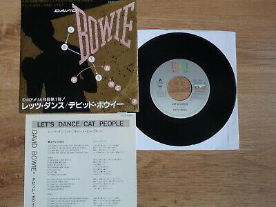 David Bowie - Let's Dance / Cat People  Rare 1983 Japanese 7    Vg+ Condition   • 12.99£