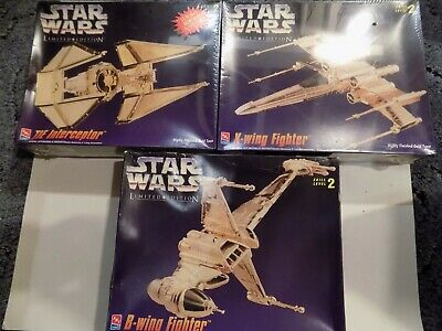 Rare Amt/revell/ Polar Lights Star Wars Limited Edition Of 3 Gold Model Kits  • 44.99£
