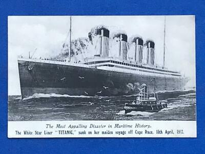 White Star Line Titanic Postcard From Someone Who New Captain Smith 18/04/1912 • 50£