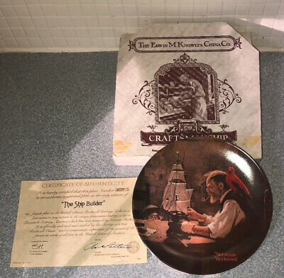 $ CDN2.58 • Buy Knowles Collector Plate Norman Rockwell The Ship Builder Limited Edition W/ COA