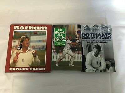 3x Ian Botham Books Book Of The Ashes It Sort Of Clicks Talking To Peter Roebuck • 9.99£