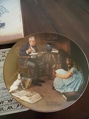 $ CDN13.36 • Buy Knowles Norman Rockwell THE STORYTELLER Collector Plate