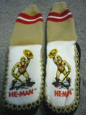$20 • Buy He-man  Masters Of The Universe Slippers  Motu RARE  1981 Kids Size 7