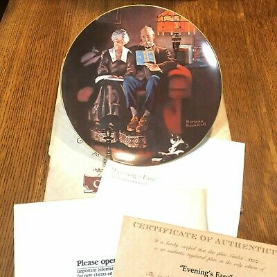 $ CDN7.77 • Buy Norman Rockwell Collector Plate,   Evening's Ease  By Knowles With Box/Certifica