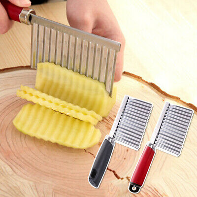 £2.99 • Buy Stainless Steel Potato Chip Salad Cucumber Crinkle Cutter Kitchen Cutting Tools