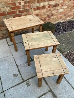 Corona Mexican Pine Nest Of Tables • 10£