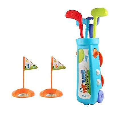 Nuheby Kids Toy Golf Clubs Set Childrens Toys Plastic Ball Caddy Outdoor Beac... • 73.73£