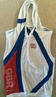 Speedo British Swimming Team GB - Sleeveless Warm Up Hoodie - Small-Med • 10.99£