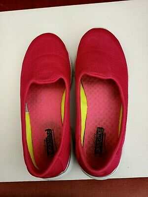 Womens Sketchers Go Walk Pink Shoes Size 5 • 4£