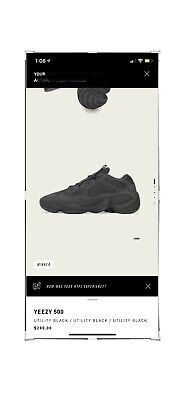 $ CDN388.76 • Buy Adidas Yeezy 500 Utility Black - Size 12.5 - Order Confirmed - Fast Ship
