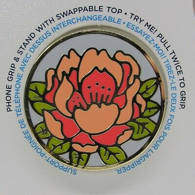 AU15.56 • Buy PopSocket Phone Grip Stand Enamel Blooming Peony POPGRIP PopSockets