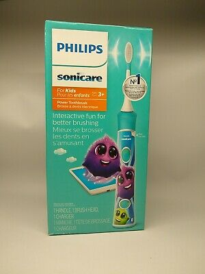 AU51.08 • Buy Philips Sonicare HX6340 Sonicare For Kids Electric Toothbrush, Aqua Bluetooth