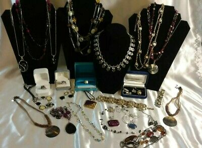 $ CDN125.32 • Buy Lia Sophia Huge Lot Jewelry Necklaces Earrings Rings Vintage - Now