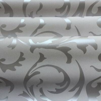 3D Damask Sliver Wallpaper Roll Home Decor Silver Grey Wall Paper Rolls 10M • 8.99£