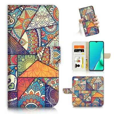 AU12.99 • Buy ( For Oppo A57 ) Wallet Flip Case Cover AJ24160 Abstract Mandala