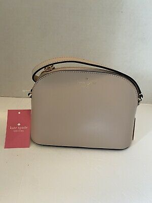 $ CDN101.64 • Buy NEW Kate Spade Kali Small Dome Crossbody Bag Leather Warm Beige NWT $239