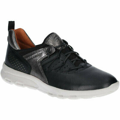 Rockport Womens Lets Walk Bungee Trainers Black Ch3361 • 39.99£