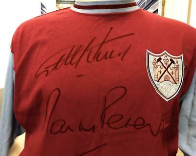 £135 • Buy GEOFF HURST And MARTIN PETERS DUAL SIGNED WEST HAM SHIRT