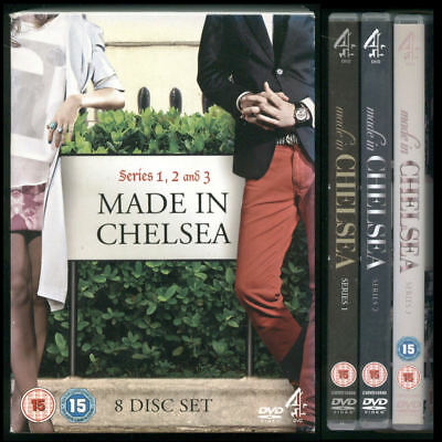 MADE IN CHELSEA Series 1, 2 And 3. 8 DVDs  • 2.49£