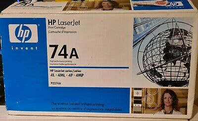 HP 74A Print Cartridge (For HP LaserJet 4L 4ML 4P 4MP) 92274A Factory Sealed. • 6.70£