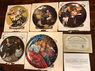 $ CDN12.02 • Buy Lot Of 5 Edwin M Knowles Norman Rockwell Collector Plates In Boxes