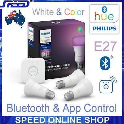 AU299 • Buy Philips Hue White & Color Ambiance Starter Kit E27 - Bluetooth/App/WiFi Controls