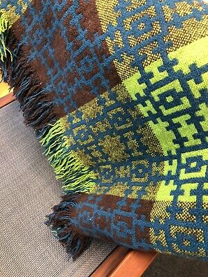 Traditional Pure Welsh Wool Blanket Throw • 175£
