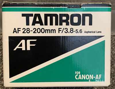 Tamron AF Aspherical 28-200mm F/3.8-5.6 IF Lens For Canon FOR CANON-AF Box Only • 14.49£