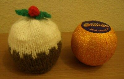 Hand Knitted Christmas Pudding Chocolate Orange Cover      (drip) • 3.95£