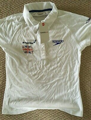 British Swimming - Speedo - Team GB Polo Shirt - Size Large Youth/Small Adult • 9.99£