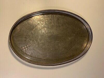 £39.99 • Buy Vintage Silver Plated Tray Viners Of Sheffield - 38.5cm Wide