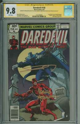 £2156.86 • Buy Daredevil #158 Cgc 9.8 White Pages / Signed Frank Miller/stan Lee/janson/shooter