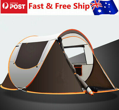 AU89.89 • Buy 3-4 Person Pop-Up Tent Outdoor Automatic Tents Waterproof Camping Hiking Tent
