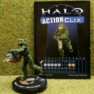 8) Halo Actionclix. 054 - MASTER CHIEF & BRUTE SHOT • 3.45£