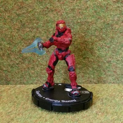 8) Halo Actionclix. 067 - RED SPARTAN & ENERGY SWORD • 4.45£
