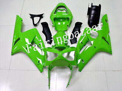 $510 • Buy Fit For 2003-2004 ZX6R 636 Solid Gloss Green ABS Plastic Injection Fairing Kit