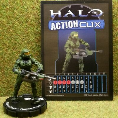8) Halo Actionclix. 300 - MASTER CHIEF & FLAMETHROWER • 7.95£