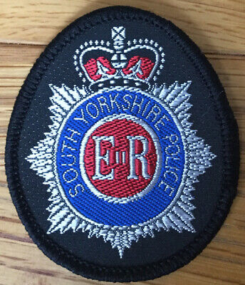 Uk British Police - Obsolete South Yorkshire Police Mounted Unit Cap Badge Patch • 2.99£