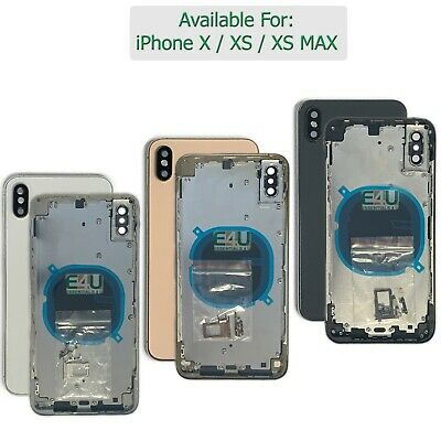 £35.95 • Buy For IPhone X XS MAX Housing Metal Frame Glass Back Chassis Cover Replacement