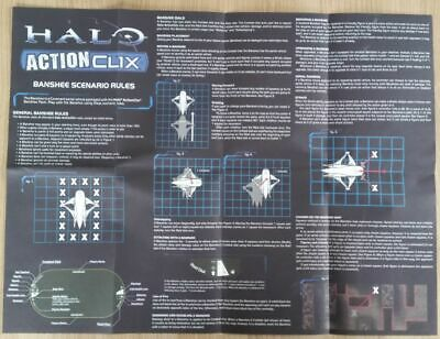 £1.45 • Buy 8) Halo Actionclix. V03 - BASIC GAME INSTRUCTIONS WITH BANSHEE SCENARIO RULES