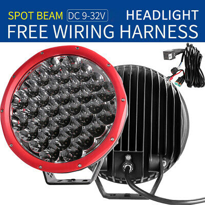 AU195.59 • Buy 2X9inch LED Light Spot Driving Round Headlights Offroad Spotlight Truck 4WD Wire