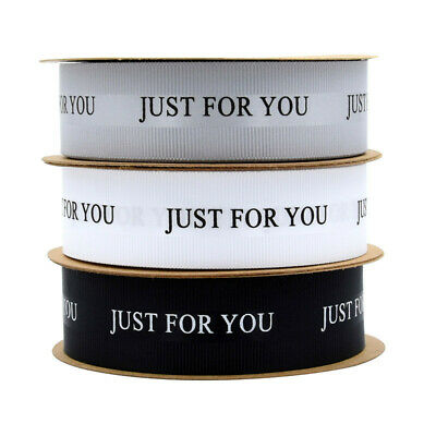 10M Just For You Satin Ribbon Trim Wedding Flower Gift Box Wrapping Decor DIY • 4.39£