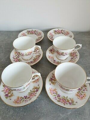 Colclough Wayside 4 X Tea Cups And 6 X Saucers Used, Good Condition. • 9.99£